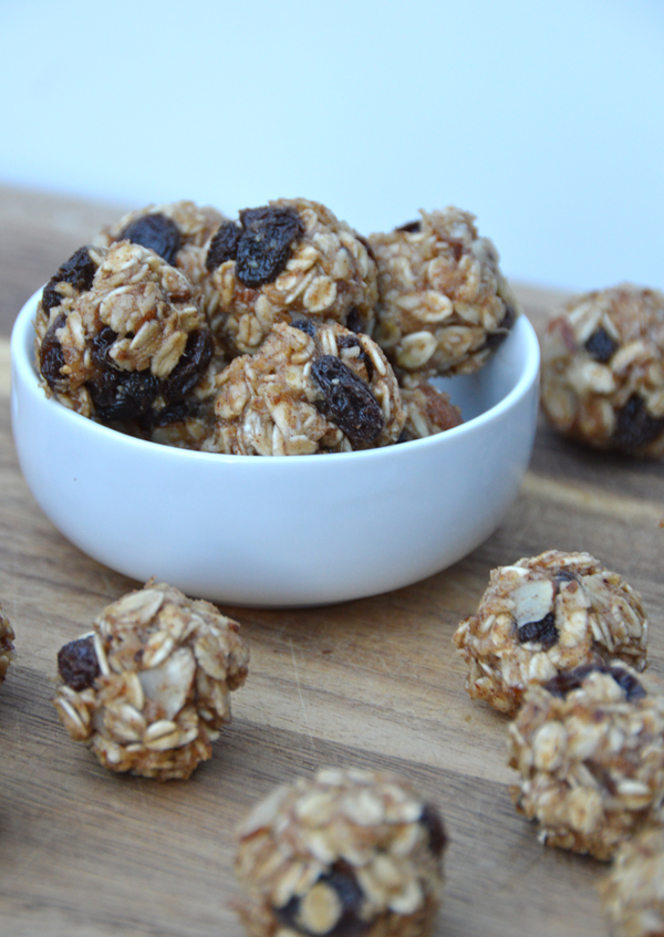Cinnamon Raisin Oatmeal Bites