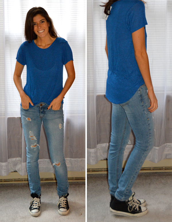 blue comfy tee from stitch fix