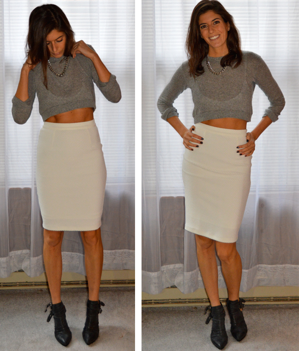 white pencil skirt from stitch fix