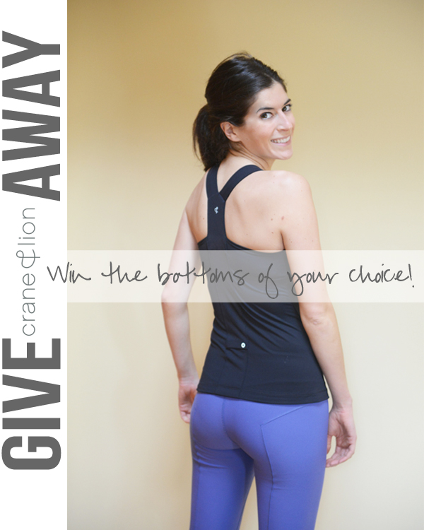 Crane & Lion workout legging giveaway