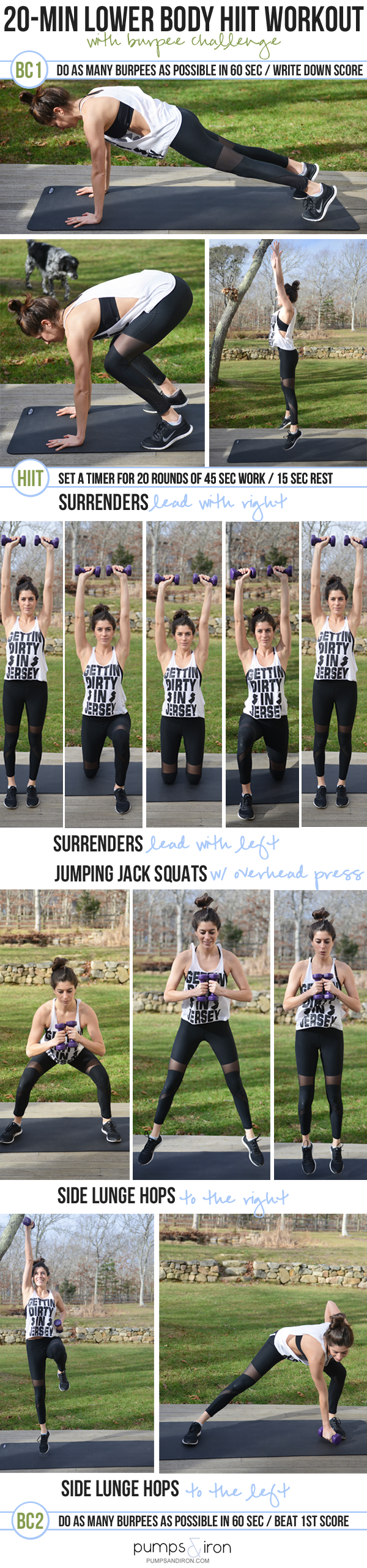 Lower-Body HIIT Workout with a Burpee Challenge