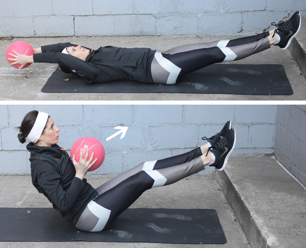 Medicine Ball Sit-Up Toss