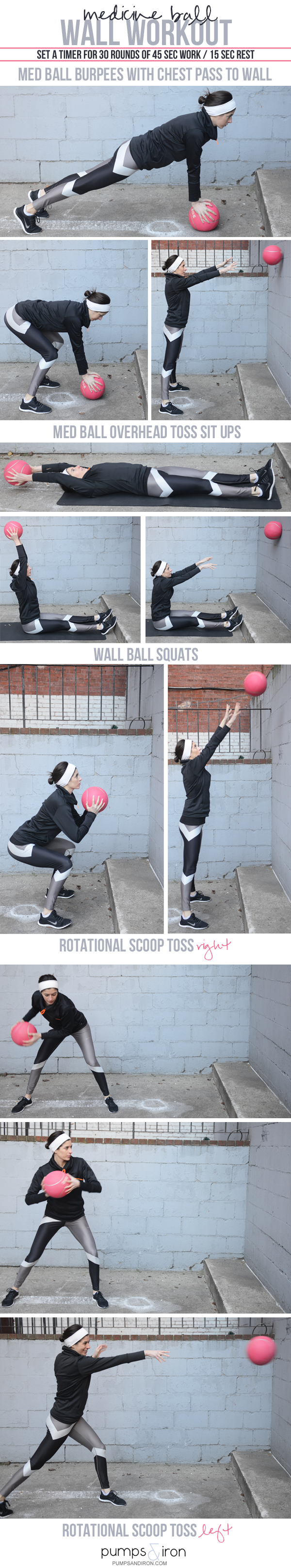 Medicine Ball Wall Workout