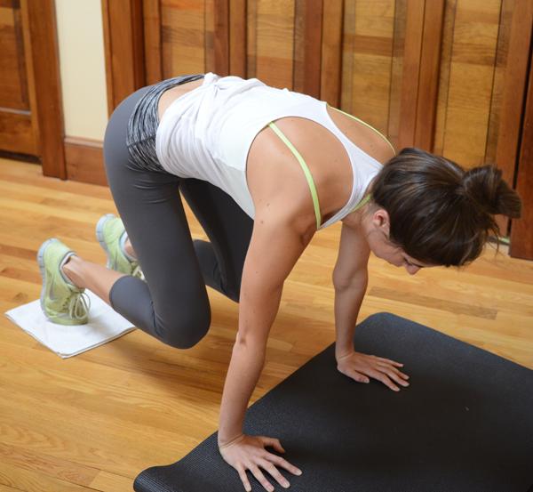 Towel Exercise Shoulder: A Makeshift Megaformer Ab Workout You Can Do At Home