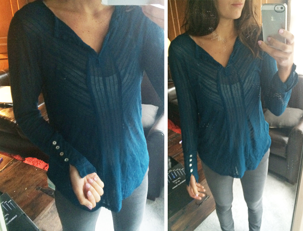 Laila Jayde Jaspers Split Neck Knit Shirt from Stitch Fix