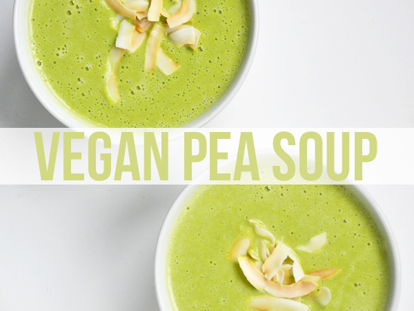 Coconut Pea Soup (Vegan) -- so easy to make!