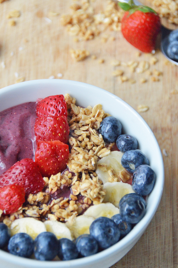 Smoothie Bowl In Food Processor