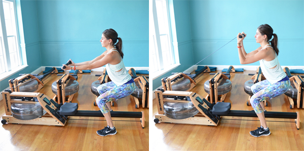 5 Non-Rowing Exercises You Can Do on a Rowing Machine - Squatting Bicep Curls #rowing #rowworkout #exercisetips