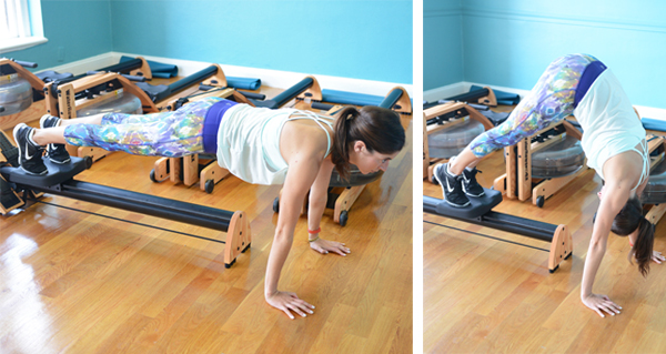 5 Non-Rowing Exercises You Can Do on a Rowing Machine - Plank to Pike