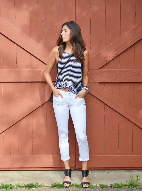Stitch Fix Review - Level 99 Lillian Distressed Crop Skinny Jean