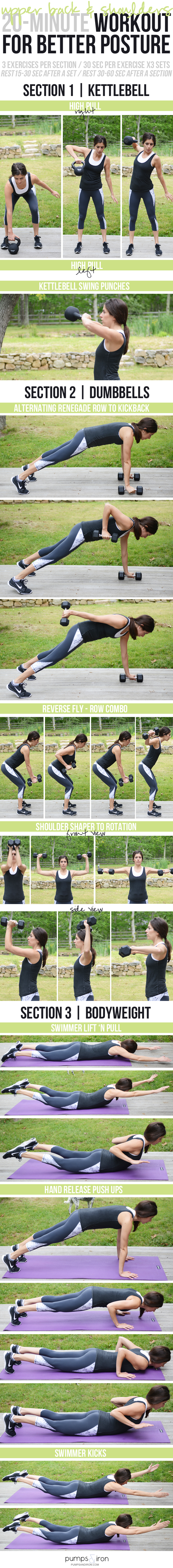 20-Minute Workout for Better Posture (targets upper back and shoulders)