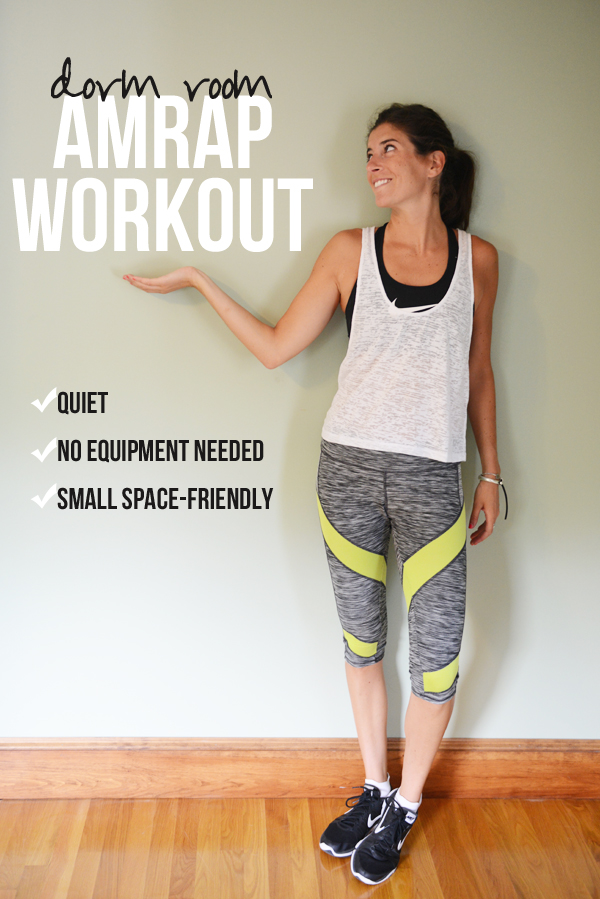 Small-Space AMRAP Workout (perfect for dorm rooms and small apartments!)