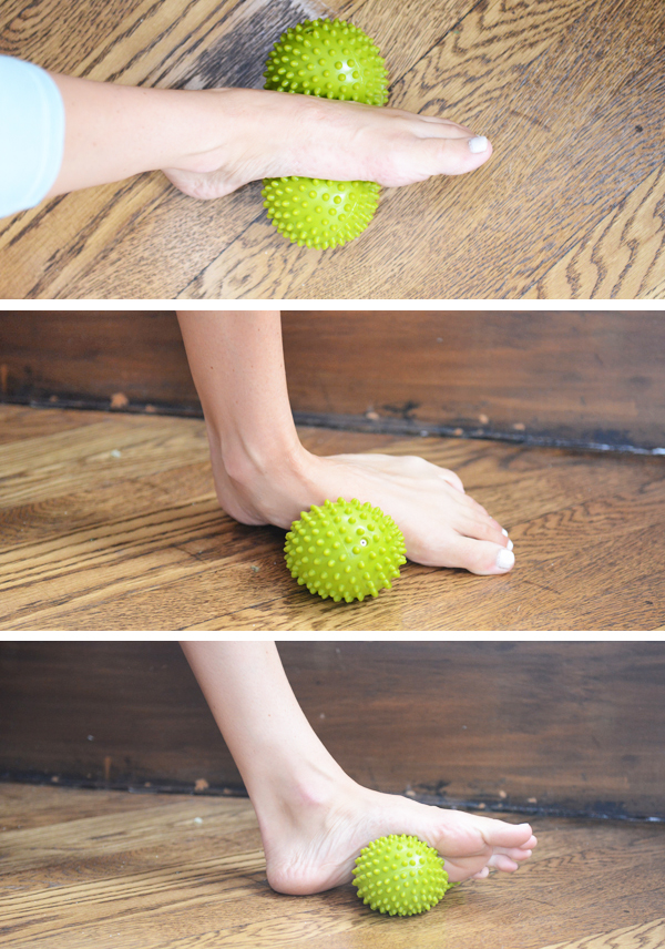 4 Self-Massage Tool I Love - air-filled spike double ball for rolling out the instep of my foot