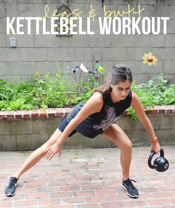 Butt & Legs Kettlebell Workout with Cardio - awesome lower body workout (and great for strengthening your back!)