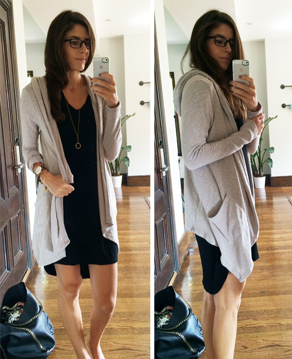 hooded-cardigan-outfit | Pumps & Iron