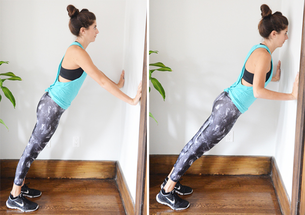 Push up Modification from 15-Minute Beginner Upper Body Workout -- with detailed exercise descriptions