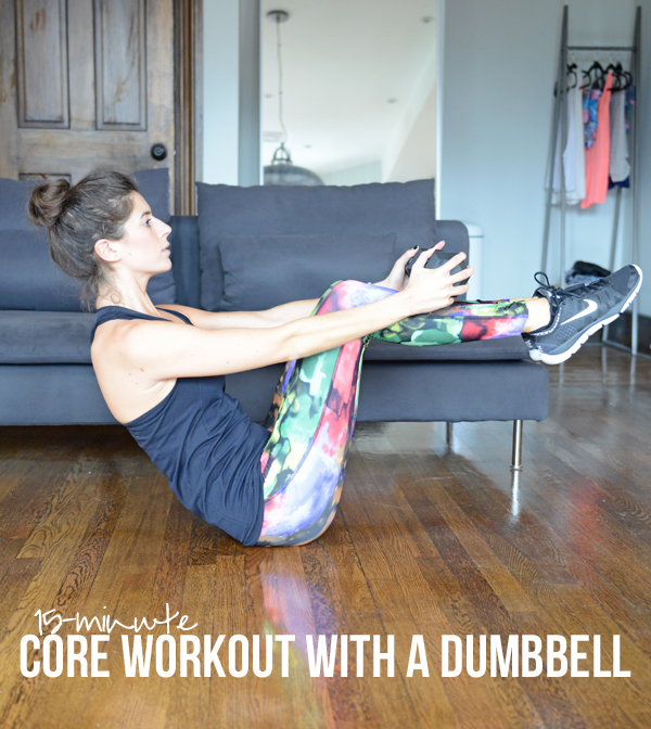 15-Minute Core Workout with a Dumbbell | Pumps & Iron