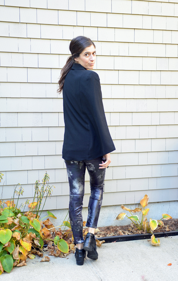 October Stitch Fix Review - Capa Cape Blazer pictured