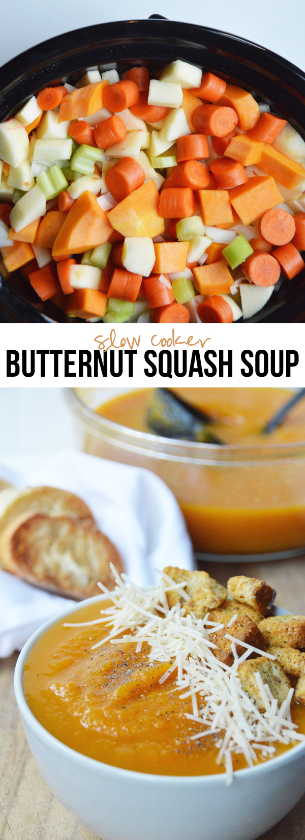 Easy Slow Cooker Butternut Squash Soup - naturally vegan & gluten-free