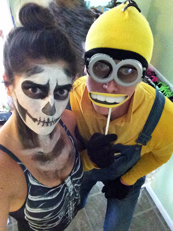Skeleton & Minion Halloween Costume