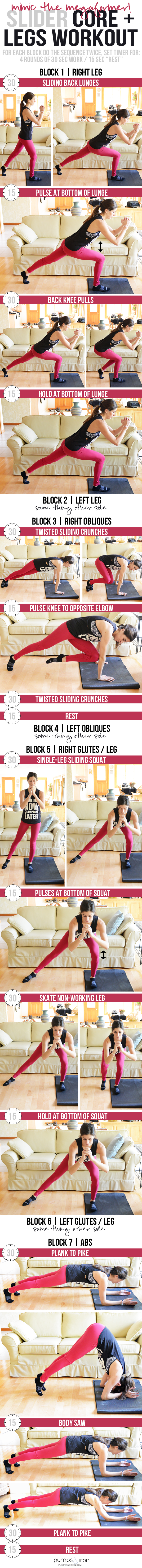 Mimic the megaformer with this sock (or slider) workout! It'll target your core and legs