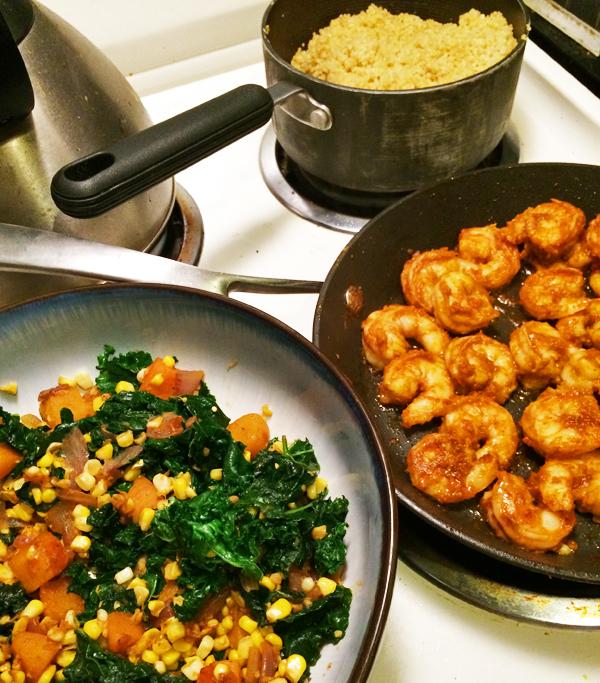veggie-saute-spicy-shrimp