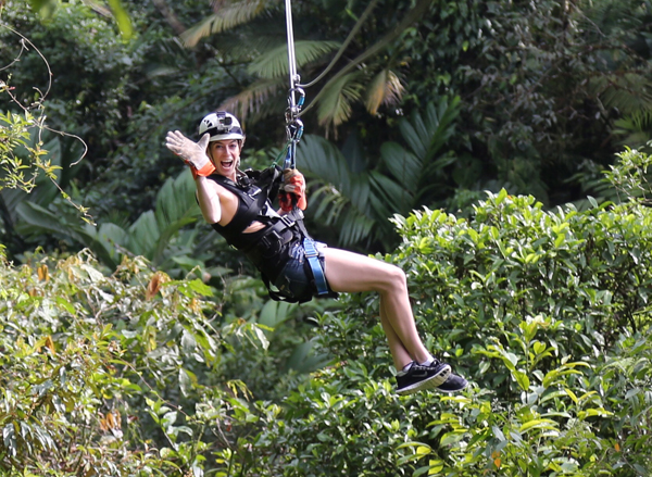 Braulio Carrillo National Park, Costa Rica -- zip lining