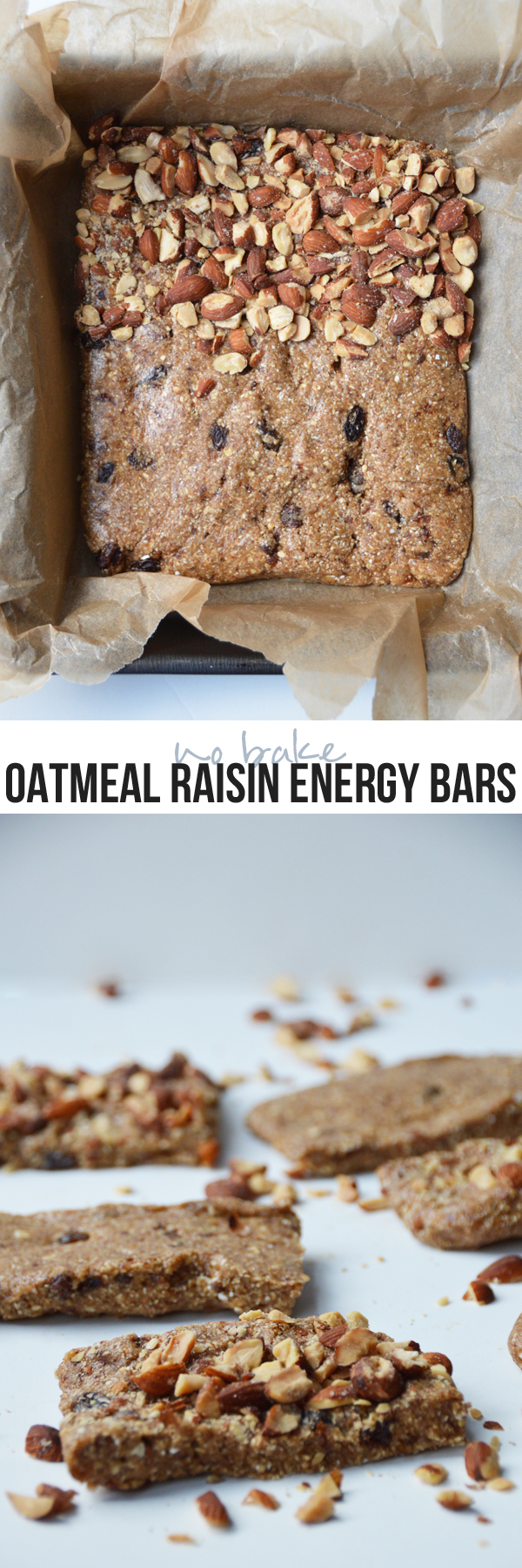 (No-Bake) Oatmeal Raisin Energy Bars -- easy to make and the perfect snack!  | pumpsandiron.com