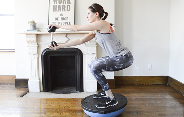 20-Minute BOSU Interval Workout - this one will focus on your lower body but uses compound exercises that engage the upper body and core as well