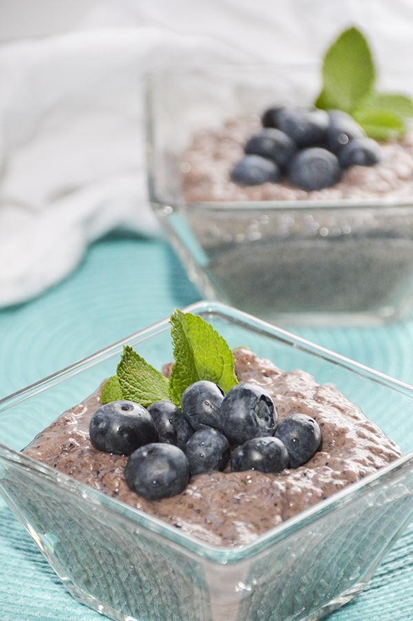 Blueberry Mint Chia Seed Pudding