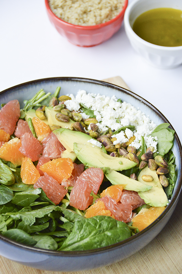 Citrus Avocado Salad with a Lemon-Mint Vinaigrette - a perfect summer ...