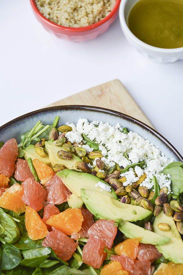 Citrus Avocado Salad with a Lemon-Mint Vinaigrette - a perfect summer salad recipe!