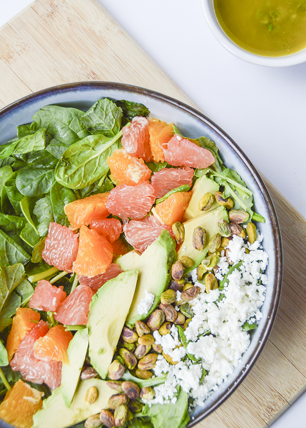Citrus Avocado Salad with a Lemon-Mint Vinaigrette