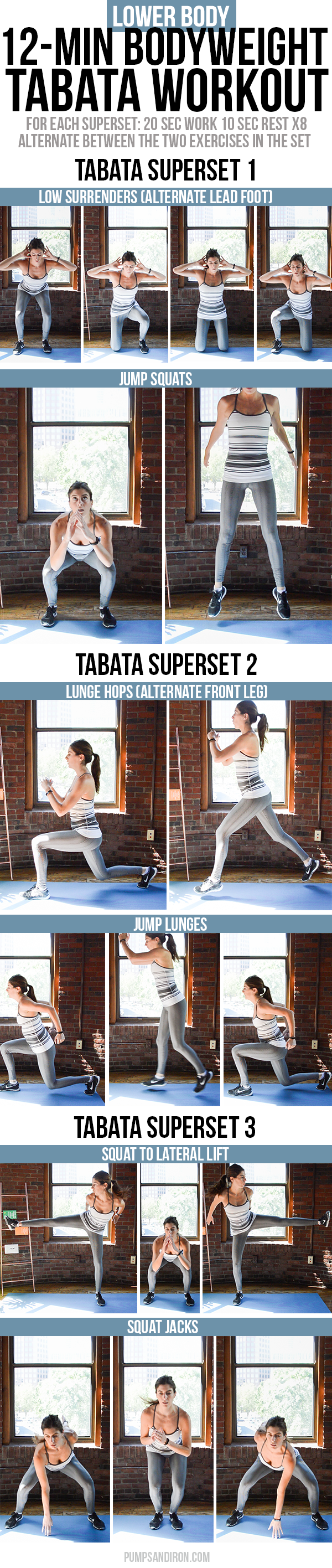 12 Minute Bodyweight Tabata Workout For Legs Butt This Is Broken
