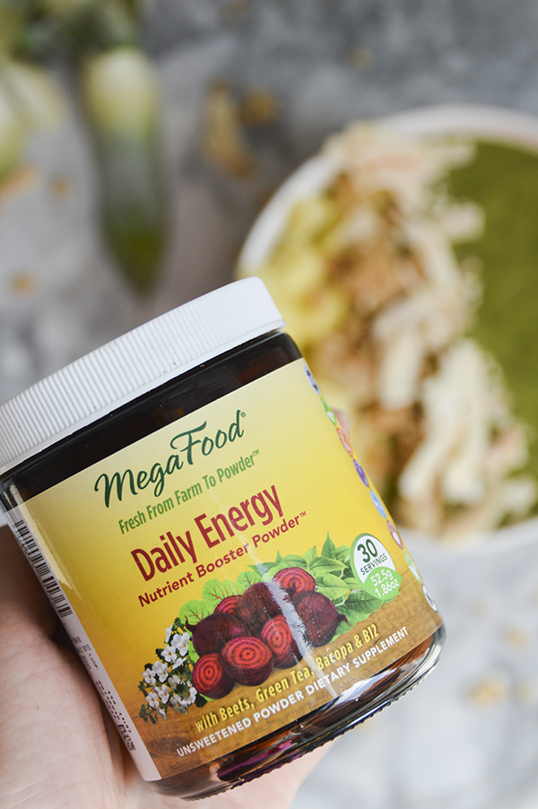 MegaFoods Daily Energy in Matcha Green Fruit Smoothie Bowl