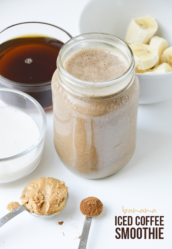 Iced Coffee Banana Smoothie