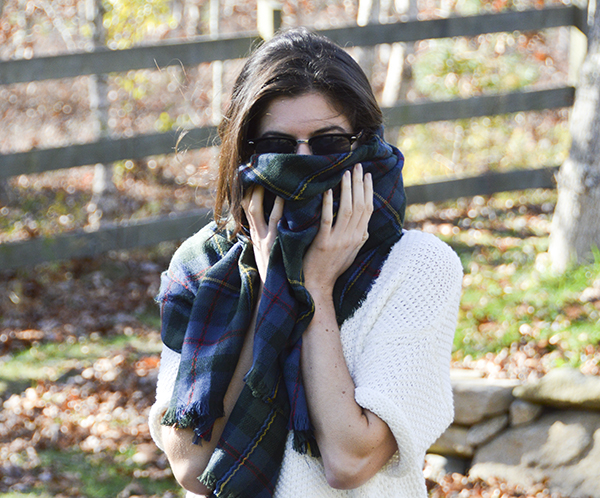 Stitch Fix review - Look by M blanket scarf