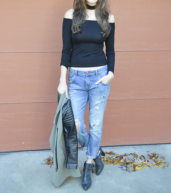 Lexi Top by Clayton with boyfriend jeans
