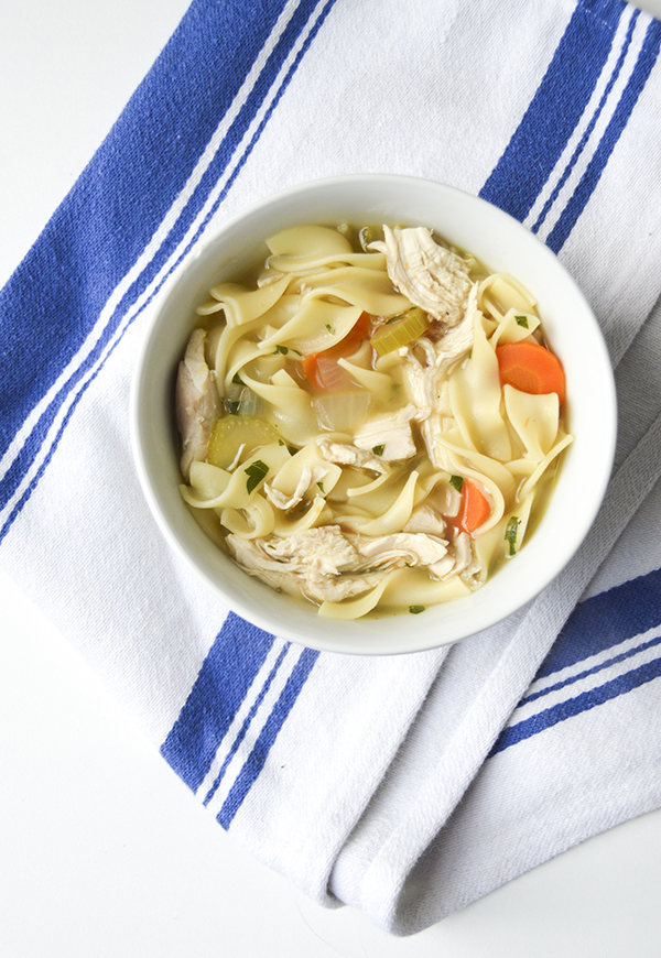 Easy 30-Minute Homemade Chicken Noodle Soup from Averie Cooks