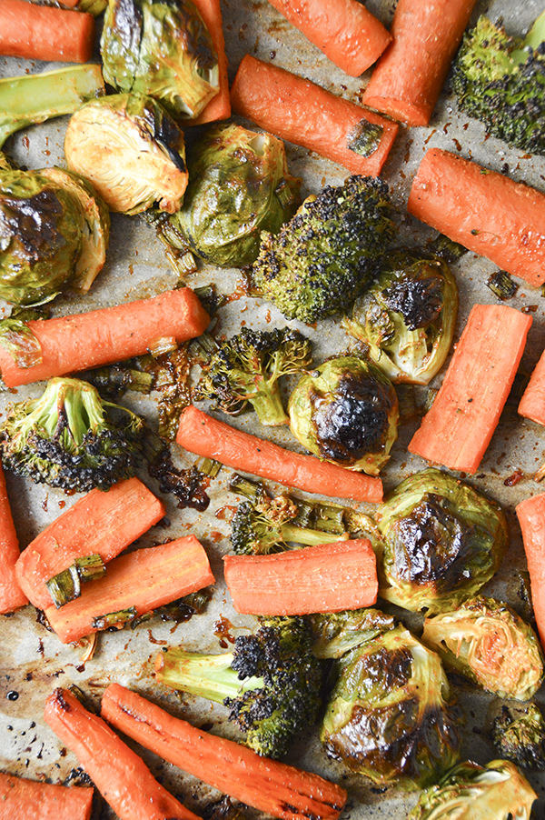 Sriracha Honey Roasted Veggies