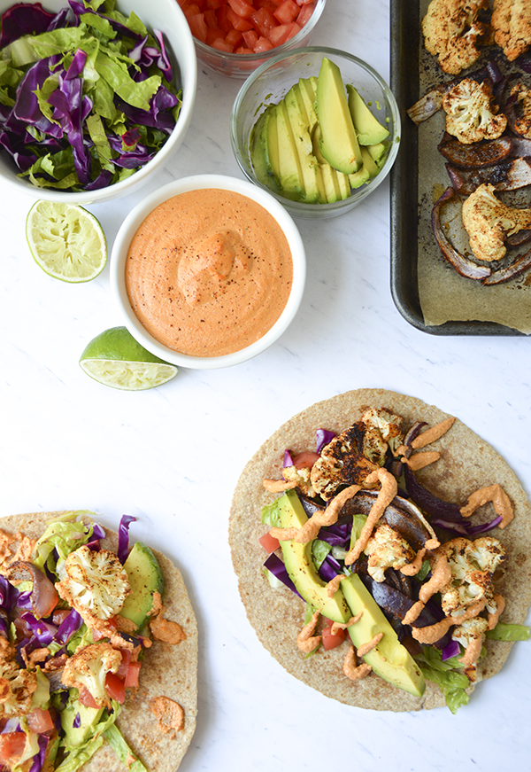 These flavor-packed chipotle roasted cauliflower tacos are absolutely delicious!