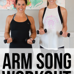 This one-song workout uses a high rep - low weight format for a big arm burnout.