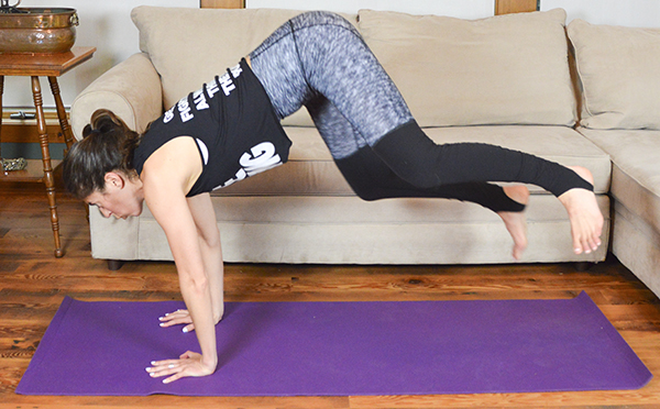 This 10-minute bodyweight HIIT workout is perfect to do when short on time or traveling. No equipment needed.