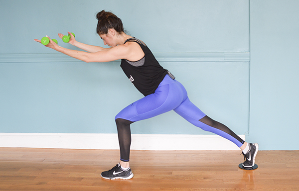 In this 20-minute low body workout you'll alternate between low-impact slider work and high-intensity tabata intervals.