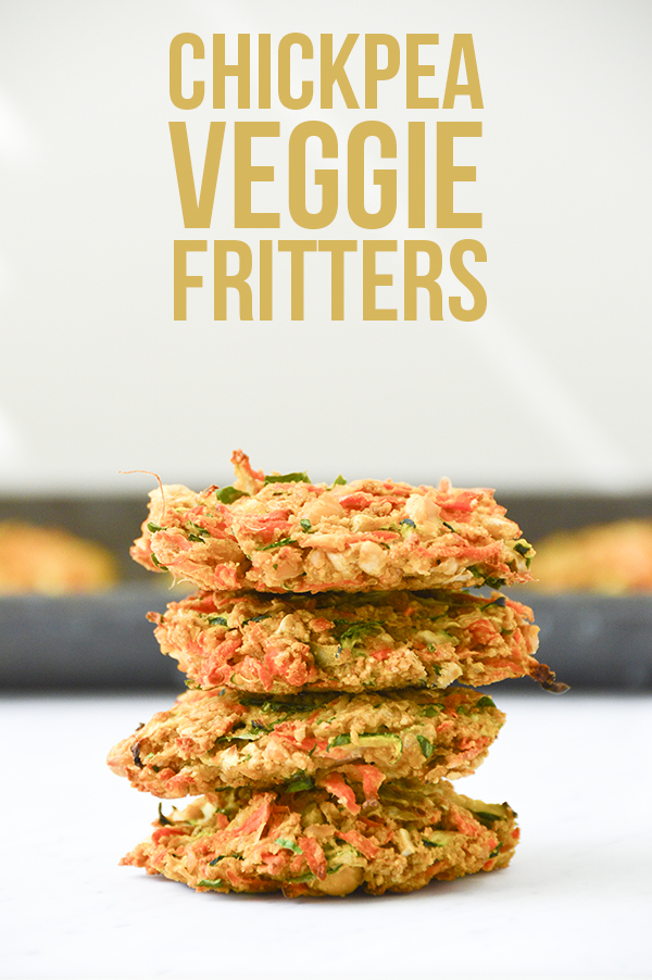 Chickpea Veggie Fritters (Vegetarian + Vegan Options)