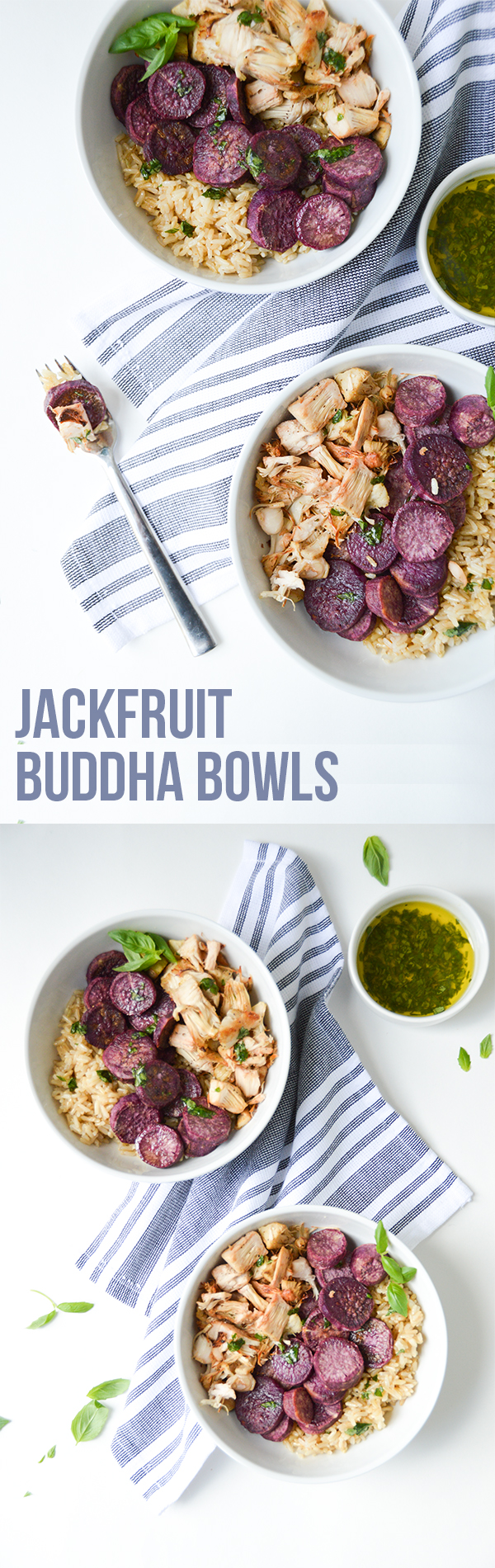 This jackfruit buddha bowl recipe is unique yet simple, containing only six ingredients.