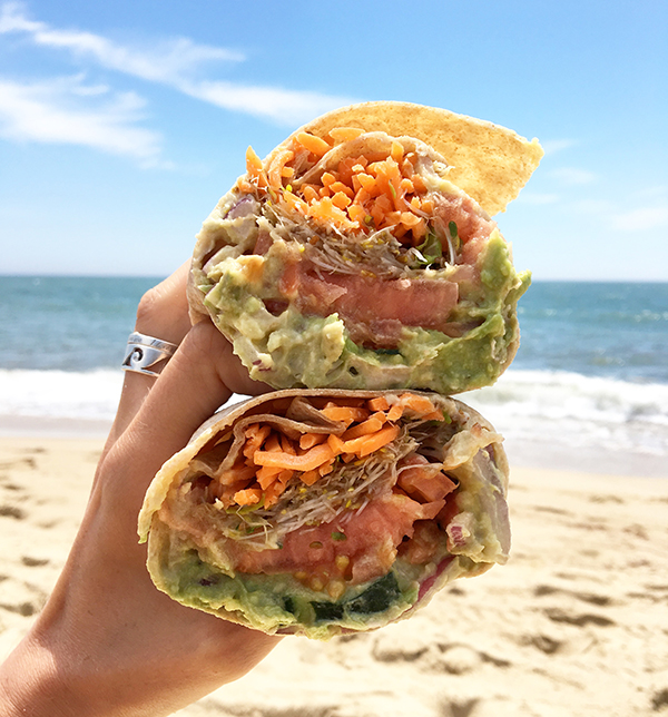 Veggie wrap from Edgartown Meat & Fish Market on Martha's Vineyard.