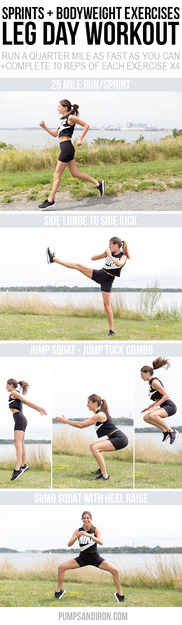 AD This Leg Workout Mixes Sprints With Bodyweight Exercises Perfect For Doing Outside Or