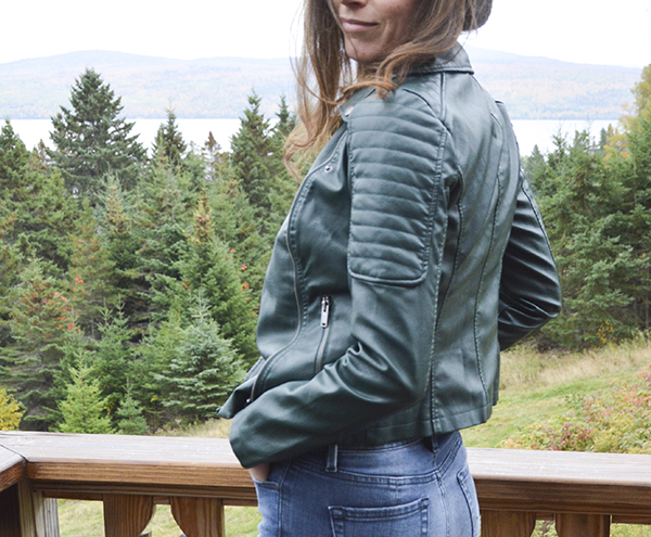 Noisy May faux leather moto jacket from my October Stitch Fix review