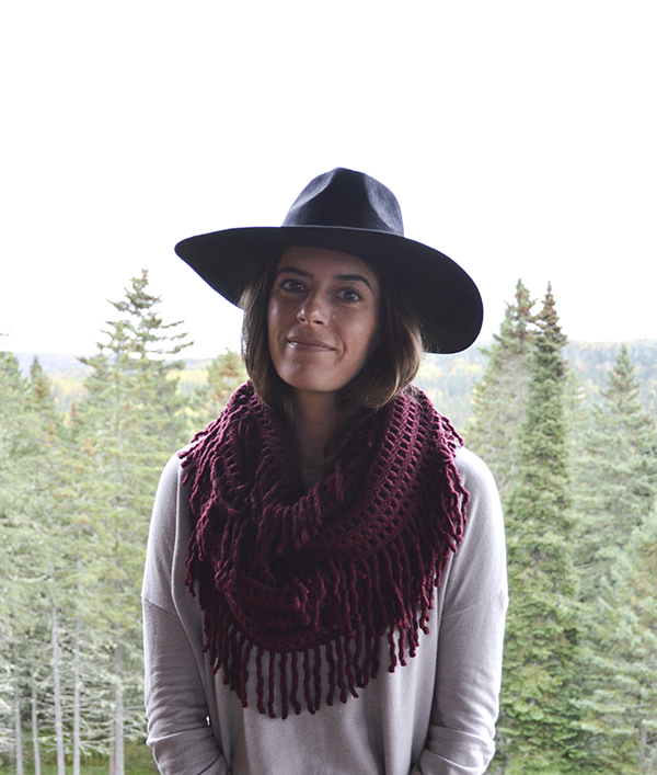 Octavia fringe infinity scarf from my October Stitch Fix review